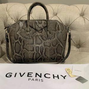 RARE Givenchy Medium Antigona Python Snakeskin Bag